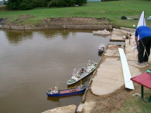 some boats before we constructed the new landing stage